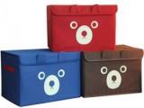 风靡日韩 经济型个性可爱小熊收纳箱 整理箱 储物箱