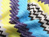 色织网眼布涤纶经编 针织粗针提花复合网眼布 秋冬鞋材新款面料