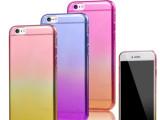 新款iphone6超薄 彩虹渐变保护套苹果6Plus双色手机壳T