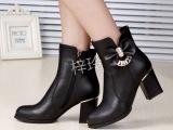 冬季真皮女靴英伦风高跟靴子女靴 一件代发女靴子货源