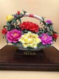 洛阳牡丹瓷工艺品 郑州陶瓷工艺摆件
