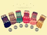 2013韩版秋冬双层加厚保暖大雪花女款分指手套 双层手套WG13