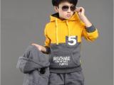 2014新款童装秋冬装3-4-5-6-8儿童套装9男童卫衣三件套