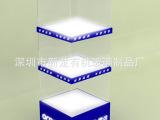 亚克力展示柜、亚克力六边形旋转展示架、有机玻璃移动电源展示架