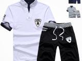2015夏季运动休闲男士短袖五分裤套装T恤五分裤爆款公牛韩版套装