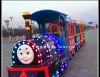 新款电动托马斯无轨观光小火车游乐设备大型商场景区电瓶代步火车