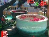 陶瓷泡澡缸 陶瓷洗浴大缸 仙沐场温泉陶瓷洗浴缸