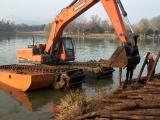 山东附近船挖机出租用于河道清淤