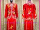 蝶儿新娘 佛山 金银线手工裙褂中式红色敬酒喜服旗袍
