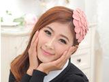 范冰冰ayomi同款 玫瑰毛呢大花朵帽子发箍 宽边头箍 儿童发饰