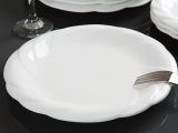 批发酒店摆台餐具套装 强化瓷白色圆形浅中式菜盘 陶瓷餐具果盘
