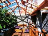 创开门窗75系列铝木阳光房