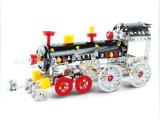 授权正品包邮合金拼装经典复古火车头益智玩具车模 玩具批发