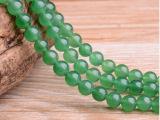 天然水晶绿东陵散珠 东陵玉髓半成品 串珠 Diy手工饰品