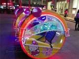 广场双人亲子彩灯电动车小孩摇杆音乐乐吧车儿童电动玩具车