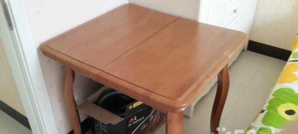 实木餐桌可加长99新,闲置一年半价出手,尺寸78