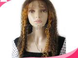 厂家直销真人发犹太发印度发中国发保鳞发生产假发头套HJW006