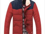 2014新款男款韩版时尚棉修身年轻阳光立领加绒毛领棉衣外套