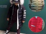 手机今日团 韩版童羽绒服 2014冬季新款连帽毛领加长儿童羽绒服