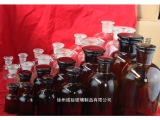 厂家批发透明玻璃  棕色试剂瓶 大小口广