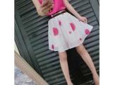 欧洲站 女装新款名媛气质上衣+时尚波点短裙两件套 套装