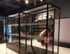 化妆品展示柜木质免漆柜精品柜展示货架模型手办玻璃柜