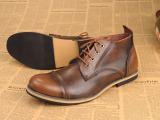 英伦韩版潮流男靴子马丁靴 男士英伦真皮低帮牛仔短靴军靴潮鞋 鞋