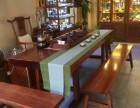 奥坎胡桃木原木实木大板桌老板桌办公桌书桌画案茶桌茶几现货