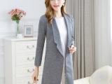 2015秋季新款 欧洲站女装原单外贸修身气质中长款西装女外套
