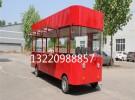 电动四轮移动餐车 中巴士流动售货车多功能 小吃车21000元