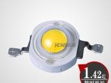 大功率led灯珠1w 正白暖白/红黄绿蓝 七彩 光宏高亮芯 厂家