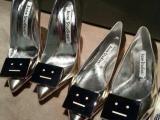 15夏欧洲站新品金属笑脸太空银镜面真皮高跟女鞋尖头细跟欧美女鞋