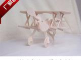 双翼机 益智儿童 3D木质立体拼图 DIY立体拼图 木质拼图批发