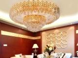 【申普】批发黄水晶灯/古镇经典水晶灯/客厅卧室吸顶灯/带LED