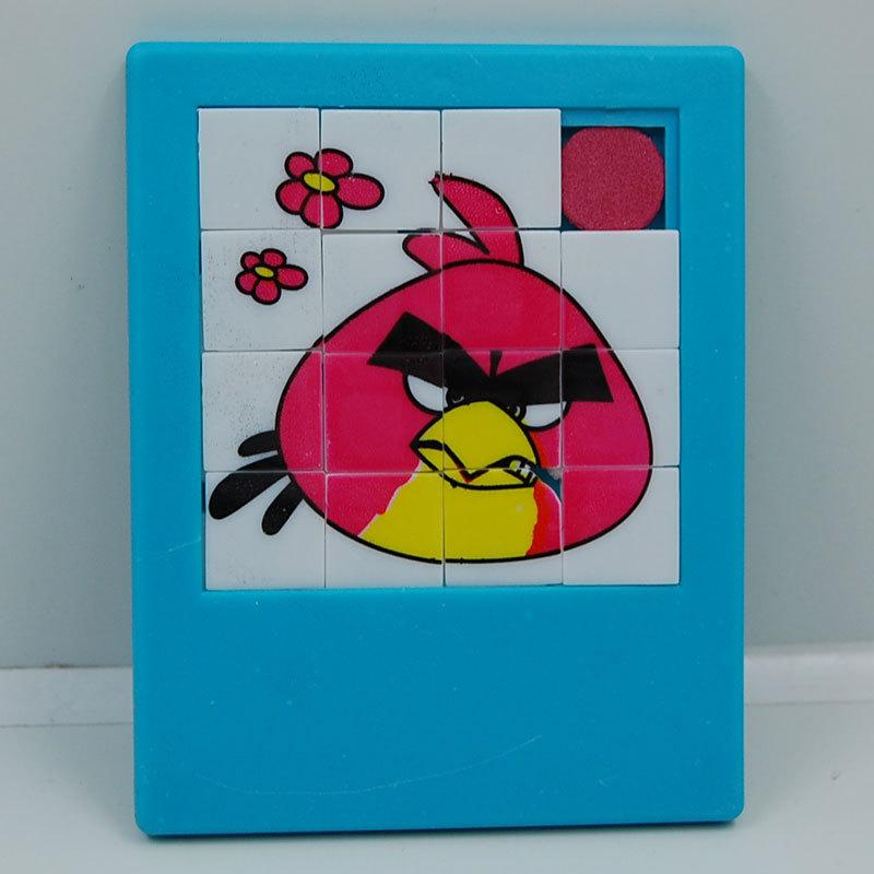 16宫格9宫格卡通滑动拼图 益智拼图 愤怒的小鸟滑动拼图30g
