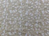 可定制全涤水溶蕾丝绣花服装面布料 服装辅料用布绣花布 批发