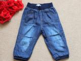 外贸原单童装   欧美品牌秋季新款带里子水洗超柔软牛仔裤  童裤