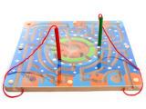 厂家直销 木制环形磁性走迷宫玩具 亲子互动游戏 磁性运笔迷宫
