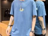 地摊甩卖男装库存T恤厂家直销便宜服装夏季纯棉男式短袖T恤