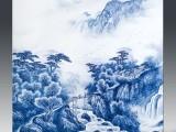景德镇陶瓷青花手绘粉彩人物瓷板画家居装饰背景墙挂画