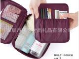 大容量旅行洗漱拉链化妆包2014新款厂家订制批发LOGO双层