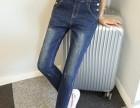 温州哪里有外贸原单尾货牛仔裤批发,夏季新款九分裤批发
