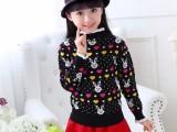 男女童毛衣开衫套头外套儿童打底衫圆领针织童装中大童秋冬装