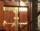 榆木仿古大门实木庭院茶楼大门农村别墅进户门徽派会所对开围墙门