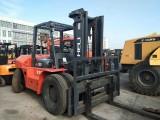 杭州二手叉车市场 出售自用二手合力10吨大叉车