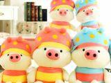 批发麦兜猪公仔 情侣蜜蜂猪 可爱毛绒玩具布娃娃情人节特价礼物