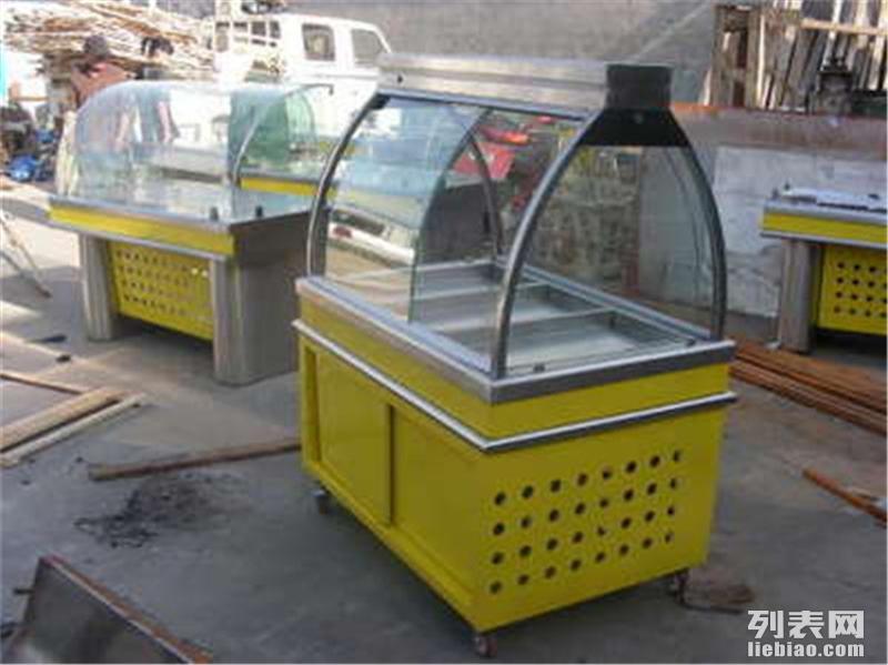 大连不锈钢超市转角常温柜不锈钢蔬菜货架展柜不锈钢海鲜展示冰台