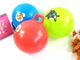 无毒PVC拍拍幼儿园玩具 婴儿充气皮球 22cm带手柄球2元店百