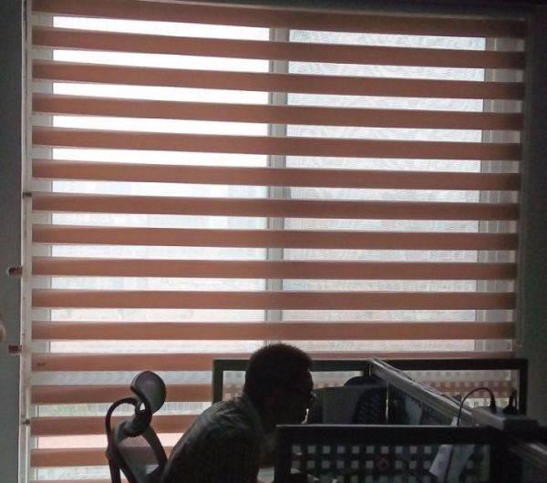 天津东丽办公卷帘 遮阳帘 电动窗帘 电动遮阳棚定做