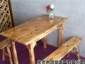 厂家直销:火焰鹅餐厅桌椅,醉鹅餐厅桌椅,农庄桌椅,碳化木